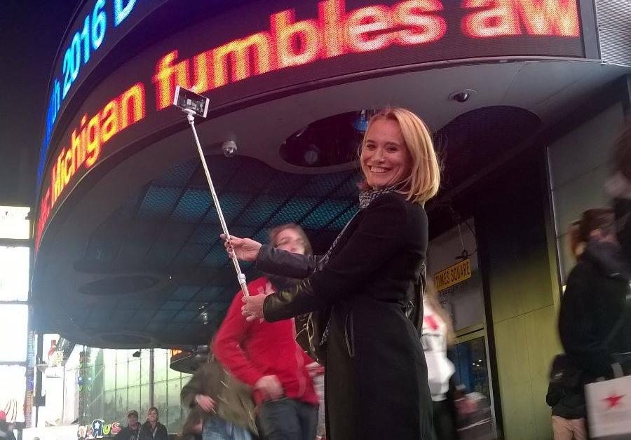 Andreea Esca New York Time Square